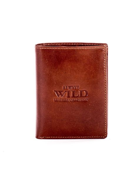 Miękki portfel ze skóry naturalnej brązowy                               zdj.                              1