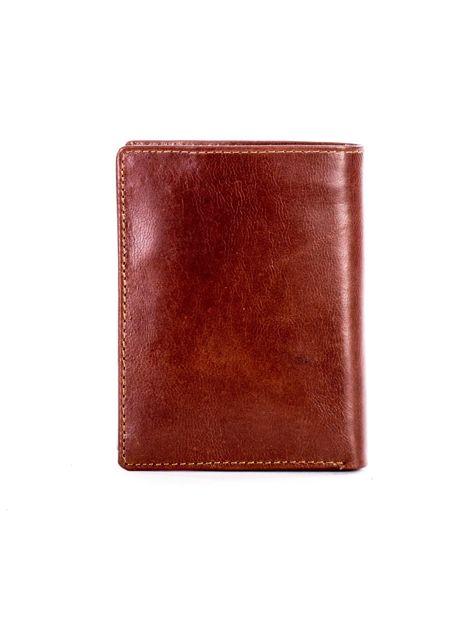 Miękki portfel ze skóry naturalnej brązowy                               zdj.                              2