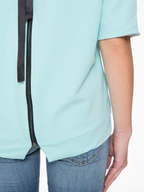 Miętowa bluza z suwakiem z tyłu                                  zdj.                                  11