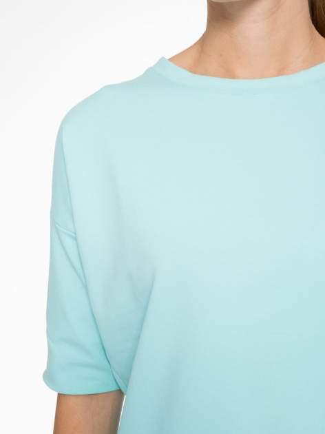 Miętowa bluza z suwakiem z tyłu                                  zdj.                                  7