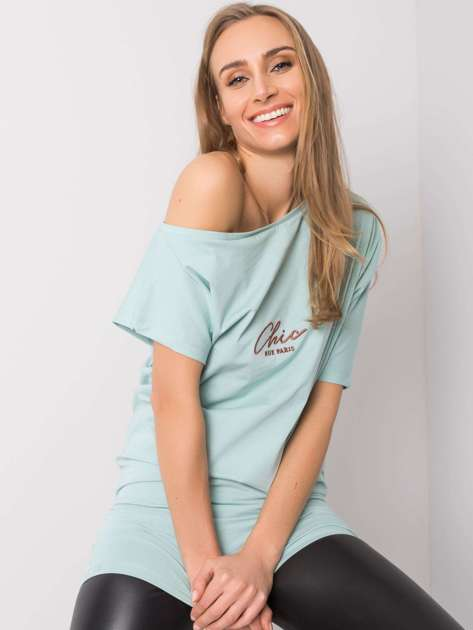 Miętowa bluzka Federica RUE PARIS