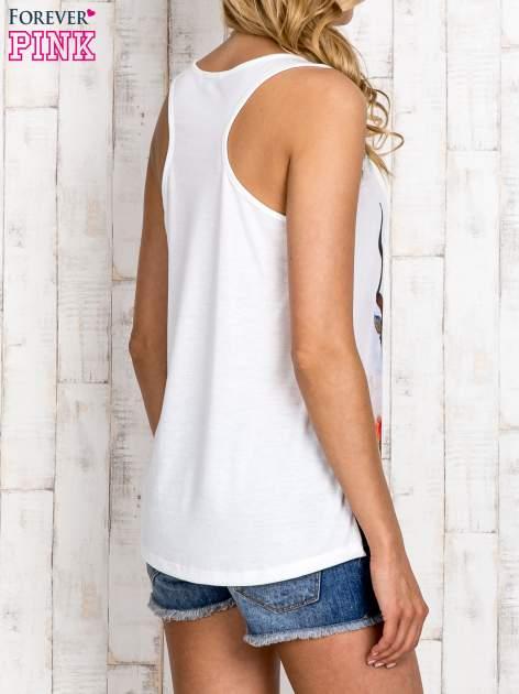 Miętowa bluzka koszulowa z nadrukiem antylopy                                  zdj.                                  5