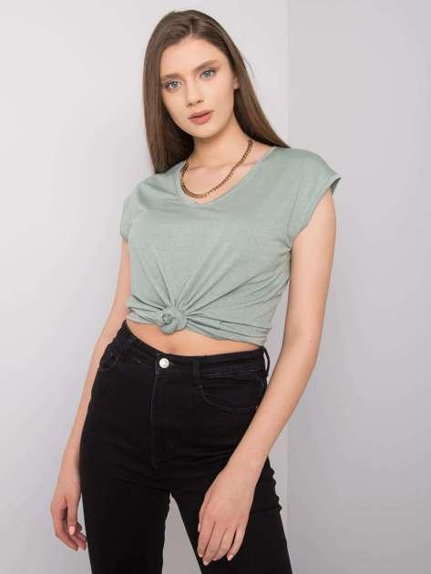Miętowa bluzka w paski Giselle RUE PARIS