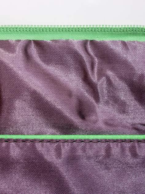 Miętowa kopertówka z dżetami napis LUCY WORLD                                  zdj.                                  7