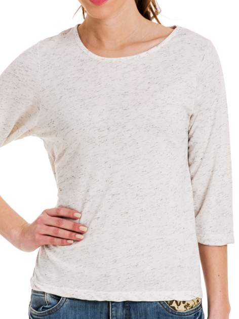 Miętowa melanżowa bluzka z rękawami 3/4                                  zdj.                                  4