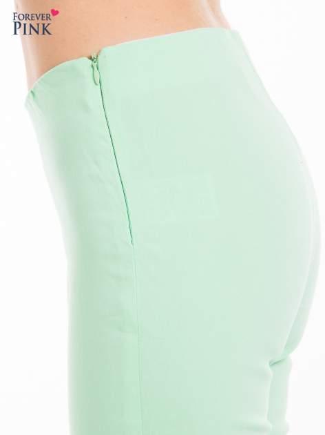 Miętowe dopasowane spodnie typu tregginsy                                  zdj.                                  5