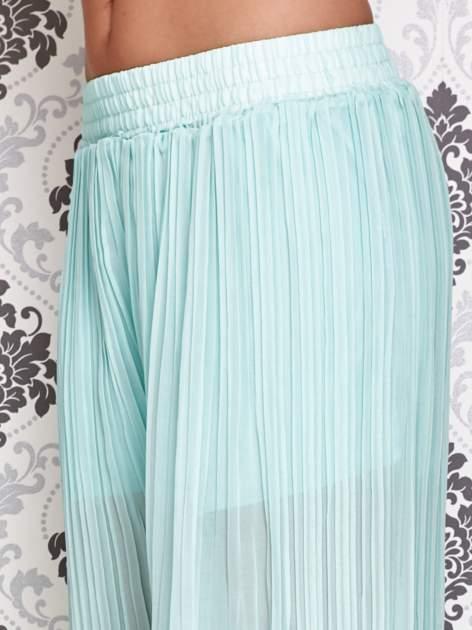 Miętowe plisowane spodnie palazzo                                   zdj.                                  4