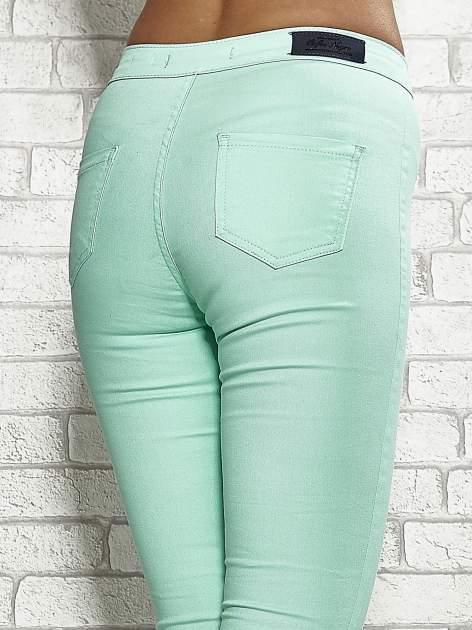 Miętowe spodnie rurki skinny                                  zdj.                                  5
