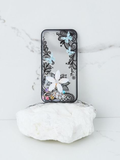Miętowo-czarne etui do iPhone 6 Plus