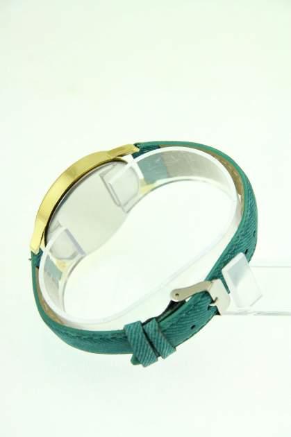 Miętowy zegarek damski z imitacją jeansu na skórzanym pasku                                  zdj.                                  4
