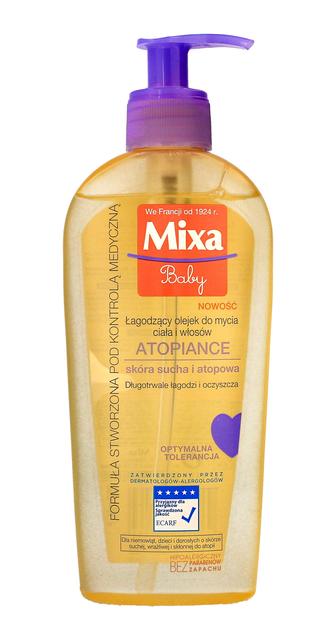 """Mixa Baby Atopiance Olejek łagodzący do mycia ciała i włosów dla dzieci  250ml"""""""
