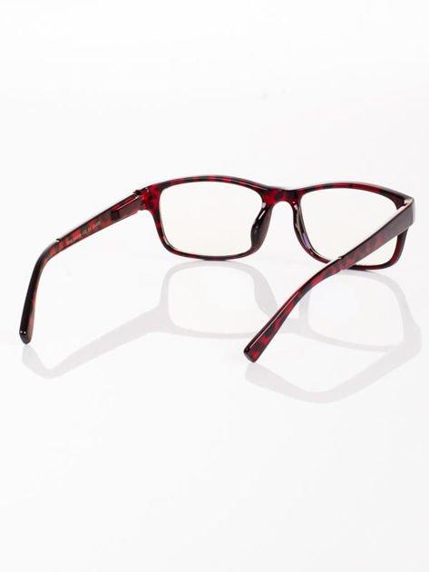 Modne okulary zerówki KUJONKI NERDY; soczewki ANTYREFLEKS+system FLEX na zausznikach                                  zdj.                                  4