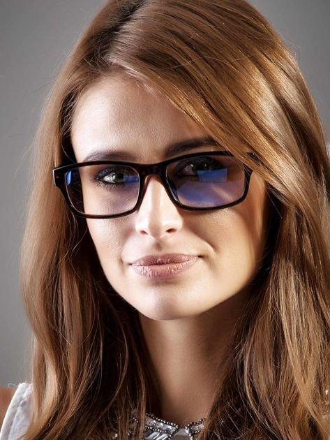 Modne okulary zerówki KUJONKI NERDY; soczewki ANTYREFLEKS+system FLEX na zausznikach                                  zdj.                                  1