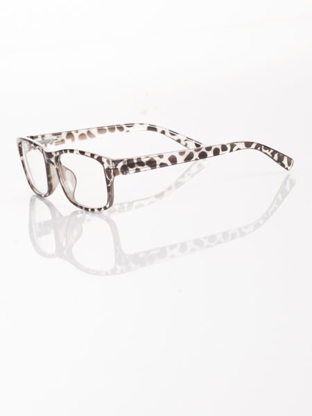 Modne okulary zerówki KUJONKI NERDY; soczewki ANTYREFLEKS+system FLEX na zausznikach                                  zdj.                                  2