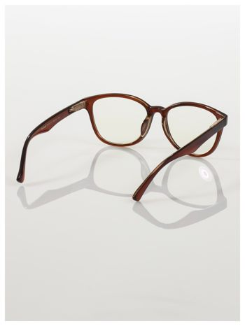 Modne okulary zerówki klasyczne - soczewki ANTYREFLEKS,system FLEX na zausznikach                                  zdj.                                  4