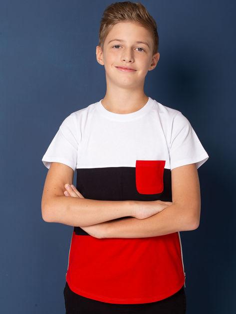 Modułowy t-shirt dziecięcy z suwakami                              zdj.                              1