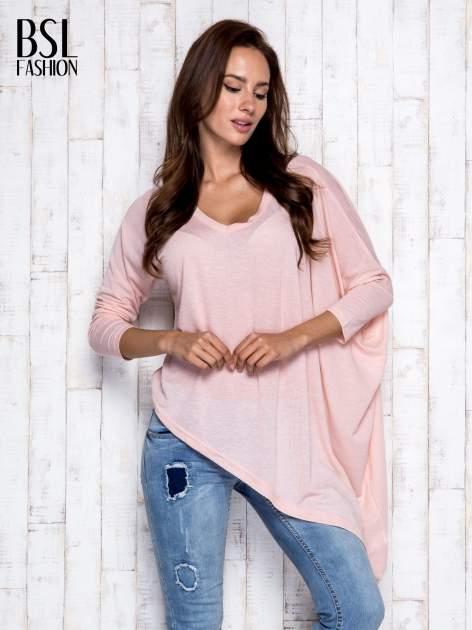 Morelowa melanżowa bluzka oversize                                  zdj.                                  3