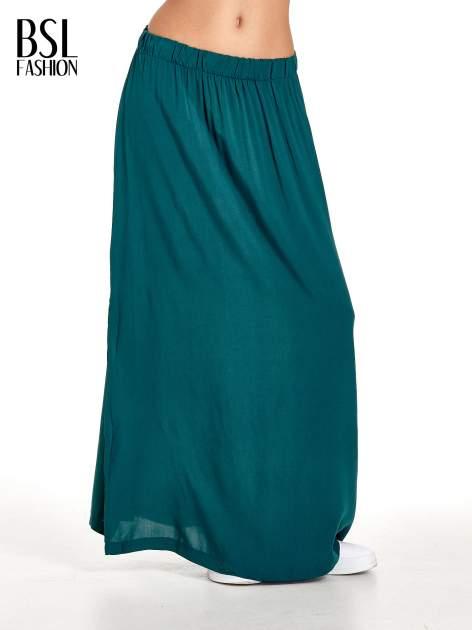 Morska spódnica maxi z rozporkiem