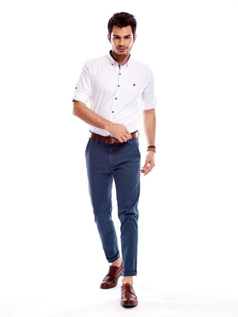 Morskie materiałowe spodnie męskie                              zdj.                              10