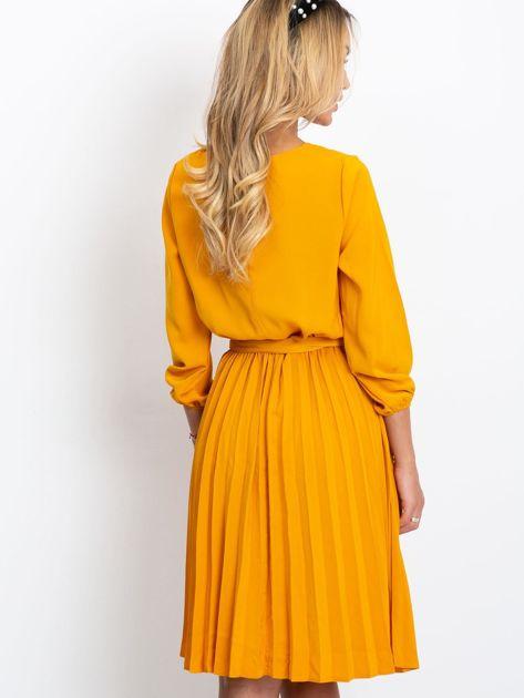 Musztardowa sukienka Dakota                              zdj.                              2
