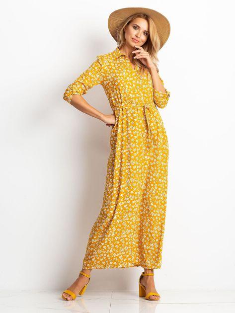 Musztardowa sukienka Icon                              zdj.                              4