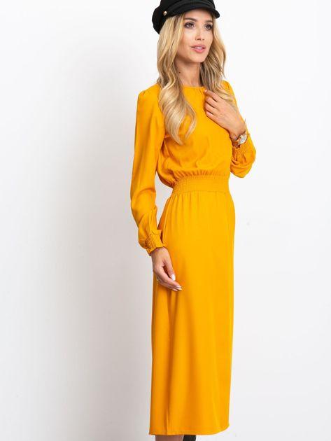 Musztardowa sukienka Saffire                              zdj.                              3