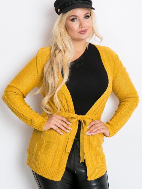 Musztardowy sweter plus size Vibe                              zdj.                              1