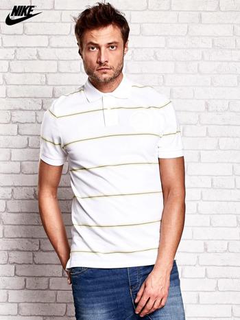 NIKE Biała koszulka polo męska w paski                                  zdj.                                  1