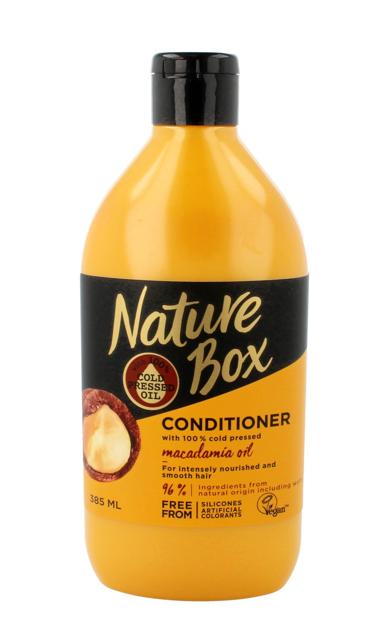 """Nature Box Macadamia Oil Odżywka do włosów odżywczo-wygładzająca  385ml"""""""