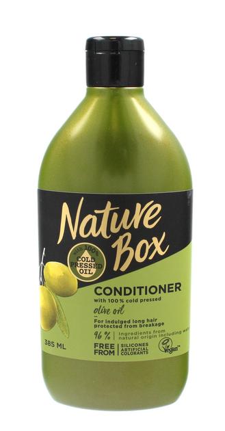 """Nature Box Olive Oil Odżywka do włosów długich wzmacniająca  385ml"""""""