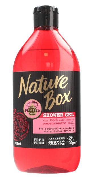 """Nature Box Pomegranate Oil Żel pod prysznic nawilżający  385ml"""""""