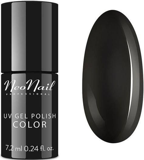 NeoNail Lakier Hybrydowy 2996 - Pure Black 7,2 ml                              zdj.                              1