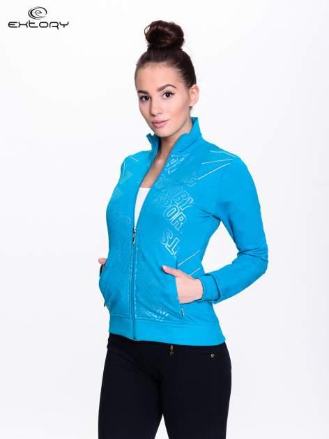 Niebieska bluza sportowa z logo EXTORY                                  zdj.                                  3