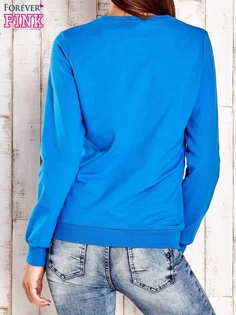 Niebieska bluza z napisem ARIGATO                                  zdj.                                  3