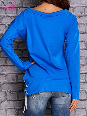 Niebieska bluza z wiązaniami                                  zdj.                                  4