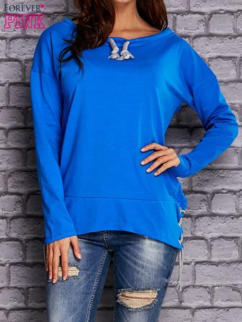 Niebieska bluza z wiązaniami                              zdj.                              1