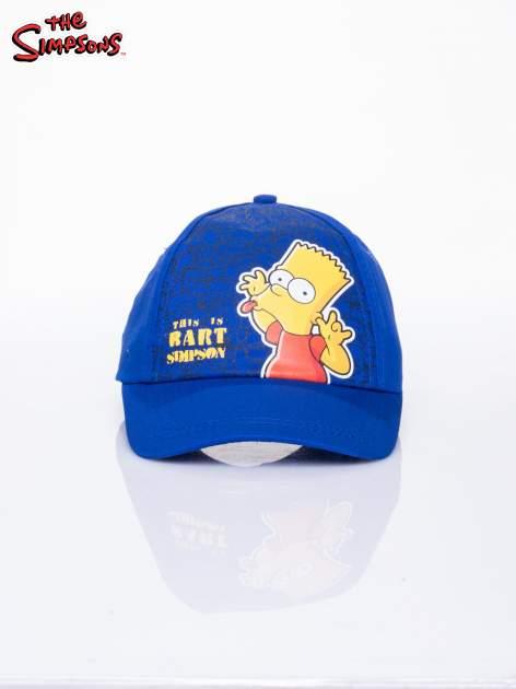 Niebieska chłopięca czapka z daszkiem SIMPSONOWIE                                  zdj.                                  1