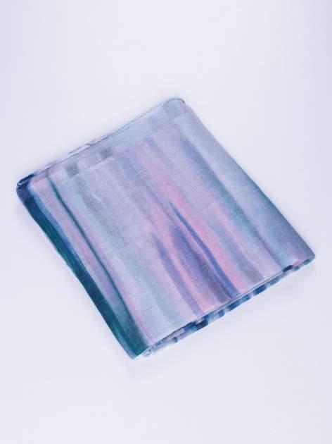Niebieska chustka w nieregularne paski                                  zdj.                                  2