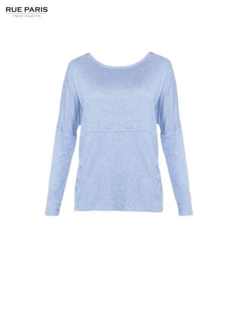 Niebieska dresowa bluza oversize z kieszeniami                                  zdj.                                  5