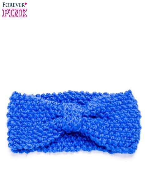 Niebieska dzianinowa opaska                                  zdj.                                  5