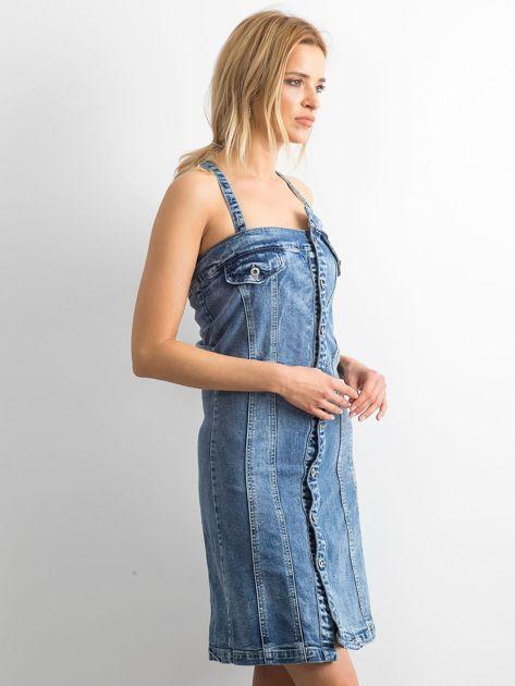 Niebieska jeansowa sukienka Magnificent                              zdj.                              3