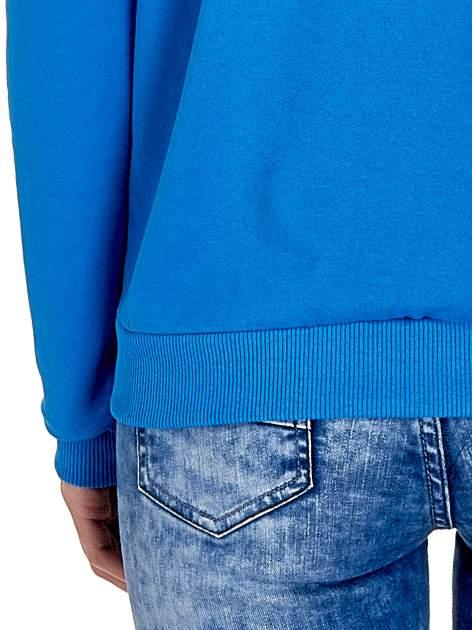 Niebieska klasyczna bluza damska z napisem IN LIFE SIMPLE IS BEST                                  zdj.                                  6