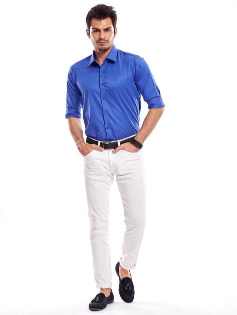 Niebieska koszula męska                               zdj.                              14