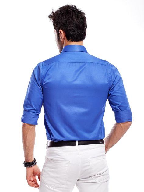 Niebieska koszula męska                               zdj.                              3
