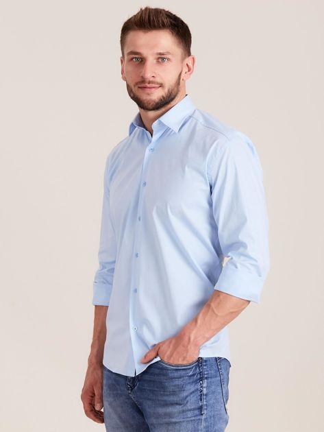 Niebieska koszula męska regular                              zdj.                              3