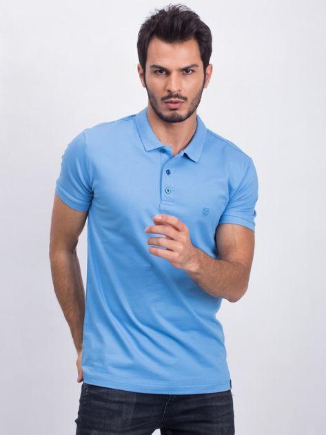 Niebieska koszulka polo Coastal                              zdj.                              1