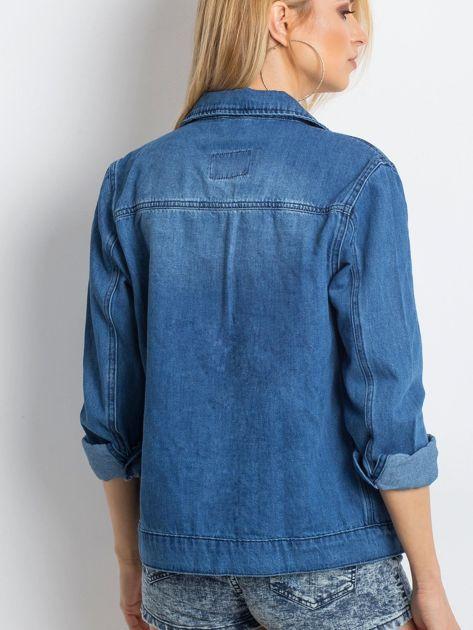 Niebieska kurtka Minimalist                              zdj.                              2