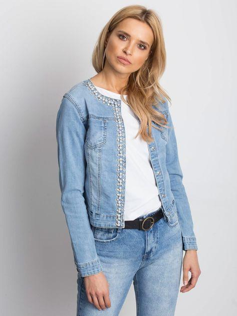 Niebieska kurtka jeansowa Off-duty                              zdj.                              1