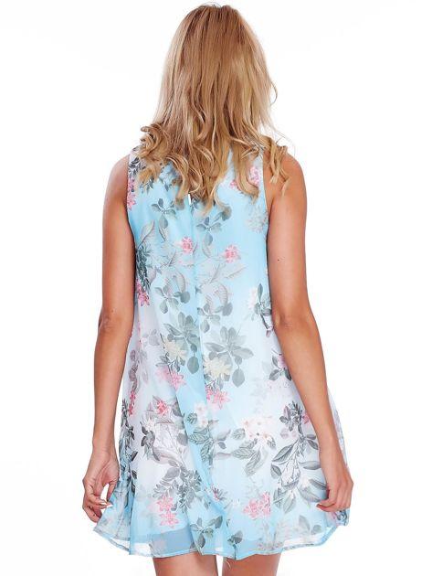 Niebieska kwiatowa sukienka                               zdj.                              2