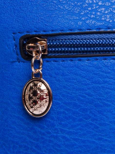 Niebieska listonoszka z odpinanym paskiem                                  zdj.                                  5
